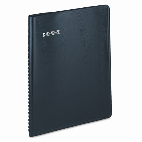 At-A-Glance LifeLinks Professional Weekly/Monthly Planner, 9-1/2 x 11-3/4, Black, 2014