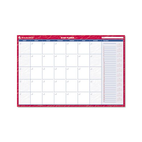 At-A-Glance Reversible/Erasable Undated Monthly/Dated Yearly Wall Calendar, 36 x 24, 2013