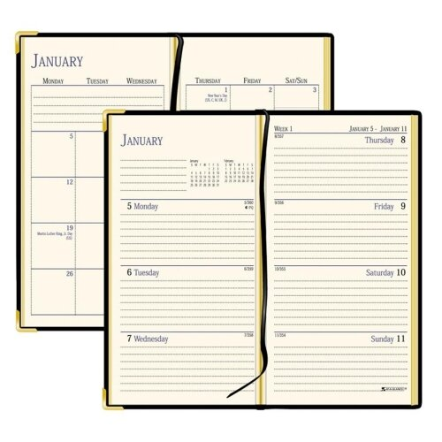 "At-A-Glance Weekly/Monthly Pocket Diary, Jan-Dec, 2 Pages per Week, 2-7/8""x4-7/8""Page Size, Black, 2013"