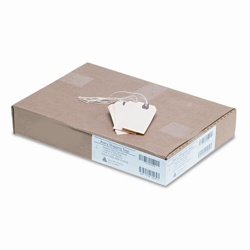 Avery Consumer Products Paper/Twine Shipping Tags, 3 3/4 X 1 7/8 (1,000/Box)