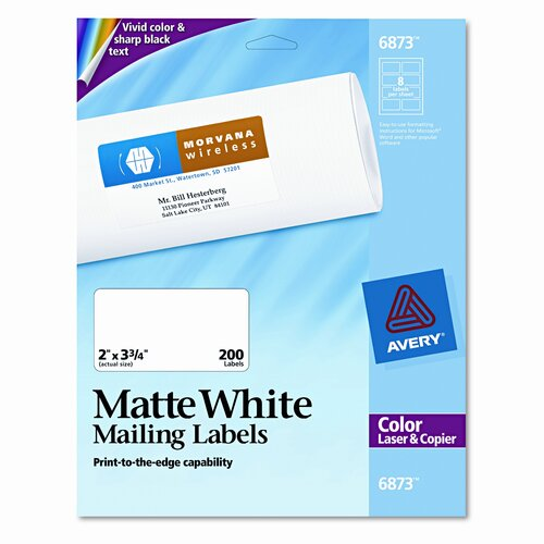 Avery Consumer Products Shipping Labels for Color Laser and Copier, 200/Pack