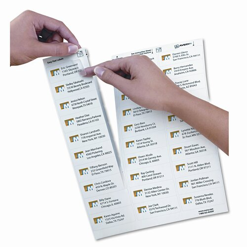 Avery Consumer Products 8660 Easy Peel Inkjet Mailing Labels (750/Pack)