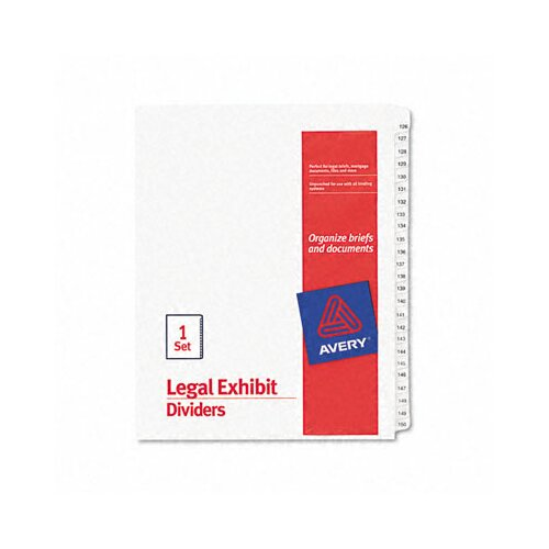 Avery Consumer Products Allstate-Style Legal Size Tab Dividers, 25-Tab, 126-150 Tab Title