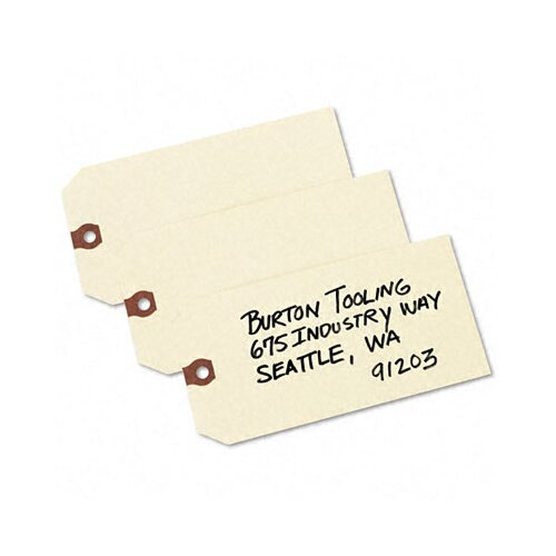 Avery Consumer Products Shipping Tags, 6 1/4 X 3 1/8 (1,000/Box)