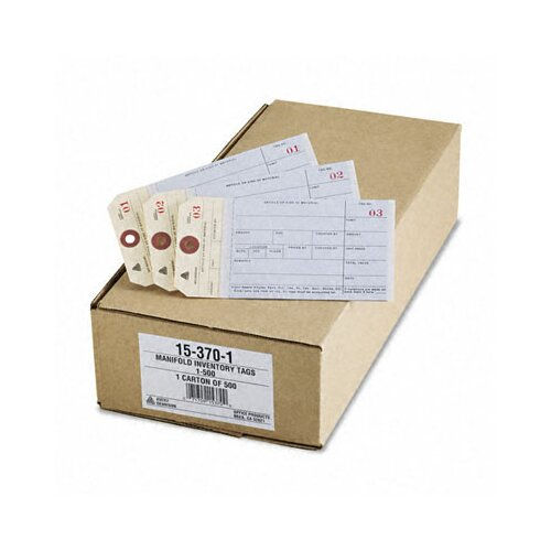 Avery Consumer Products Duplicate Inventory Tags, Bond Top Copy, 6 1/4 X 3 1/8, 500/Box