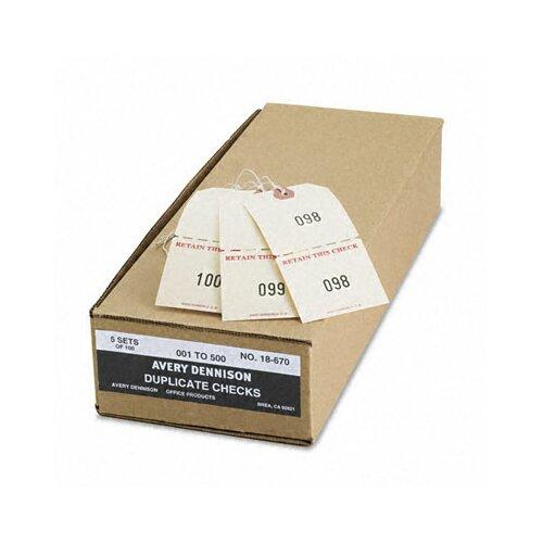 Avery Consumer Products Extra Large Claim Checks (500/Box)