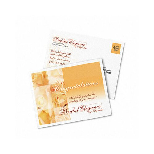 Avery Consumer Products Personal Creations Printable Textured Postcards, 120/Box