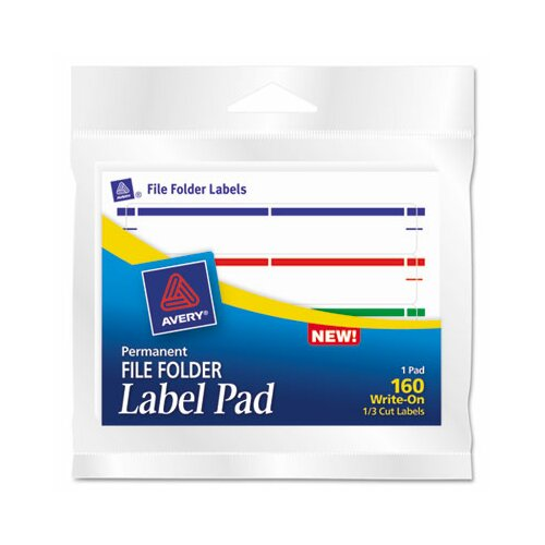 Avery Consumer Products Label Pads, 160/Pack