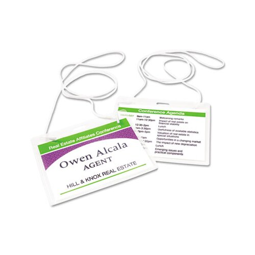 Avery Consumer Products Neck Hanging-Style Flexible Badge Holders, 100/Box