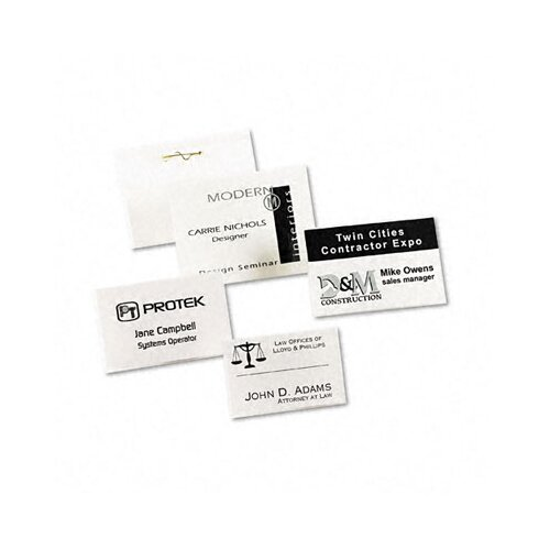 Avery Consumer Products Badge Holders with Laser/Inkjet Inserts, Top Loading, 100/Box