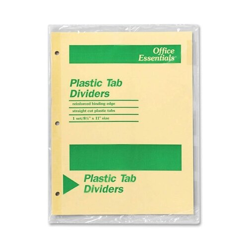 Avery Consumer Products Economy Insertable Dividers, 5 Tabs, Clear