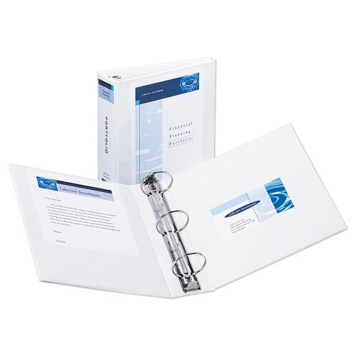 """Avery Consumer Products Economy View Binder, 8-1/2""""x11"""", 3"""" Cap, White"""