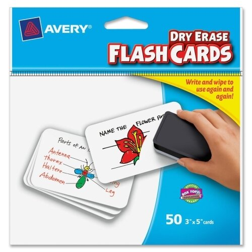 Avery Consumer Products Write on Dry-erase Flash Card (50 Per Card)