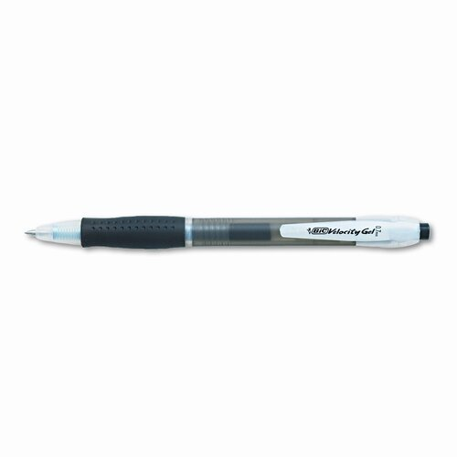 Bic Corporation Medium Velocity Roller Ball Retractable Gel Pen, 12/Pack