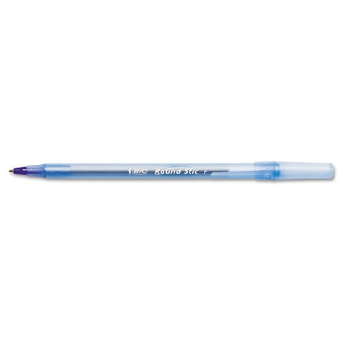 Bic Corporation Round Stic Ballpoint Stick Fine Pen, 12/Pack