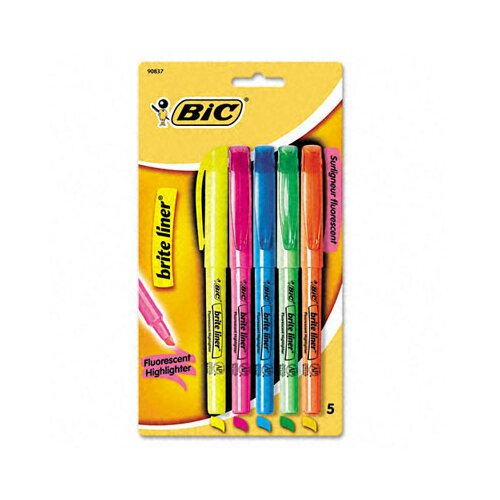 Bic Corporation Chisel Tip Brite Liner Highlighter