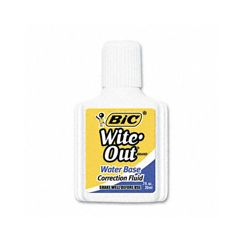 Bic Corporation 20 Ml Bottle Wite-Out Water-Based Correction Fluid