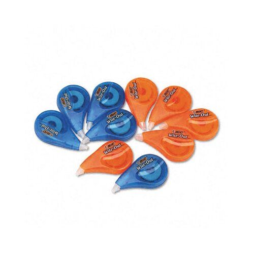 "Bic Corporation Wite-Out Correction tape, Non-Refillable, 1/6"" x 397"", 10 per Pack"