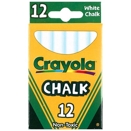 Crayola LLC 12 Sticks - Tuck Box White Chalk