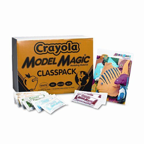 Crayola LLC Model Magic Modeling Compound, 1 Oz Each Packet, 75 Oz