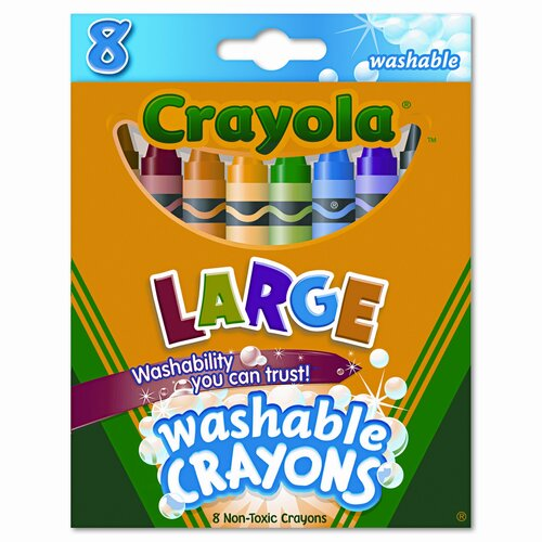 Crayola LLC Large Washable Crayons (8/Box)