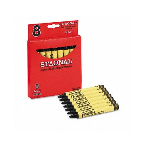 Crayola LLC Staonal Marking Crayons, 8/Box