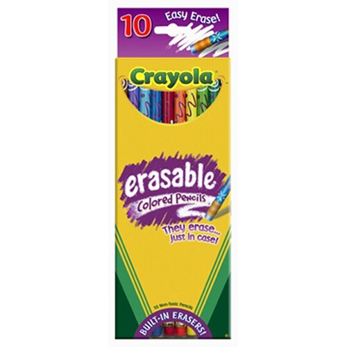 Crayola LLC Erasable Colored Pencils 10 Color