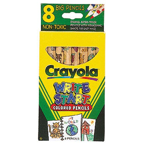 Crayola LLC Crayola Write Start 8 Ct Colored