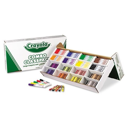 Crayola LLC Classpack Crayons with Markers (8 Colors, 128 Each Crayons/Markers, 256/Box)