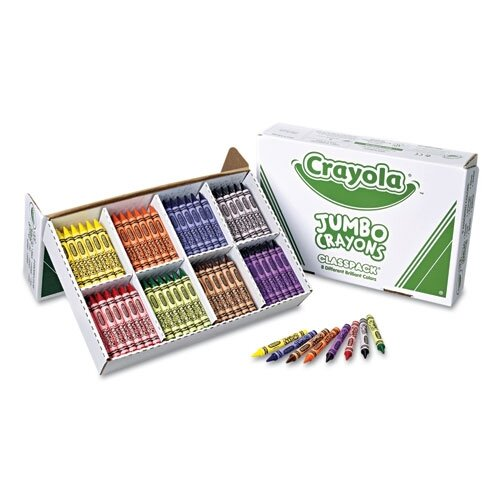 Crayola LLC Jumbo Classpack Crayons (25 Each of 8 Colors, 200/Set)