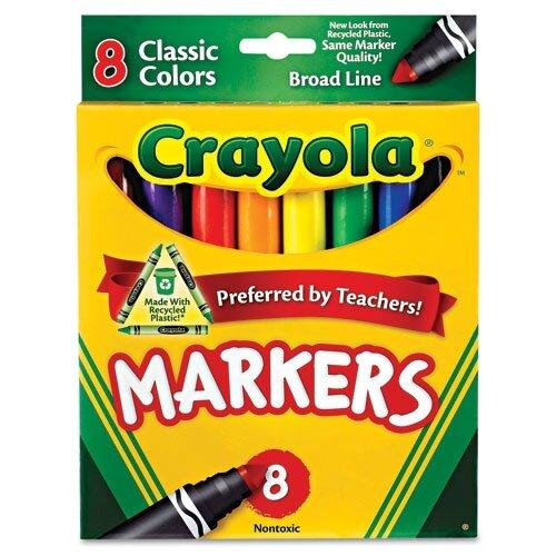 Crayola LLC Non-Washable Broad Point Markers (8/Set)