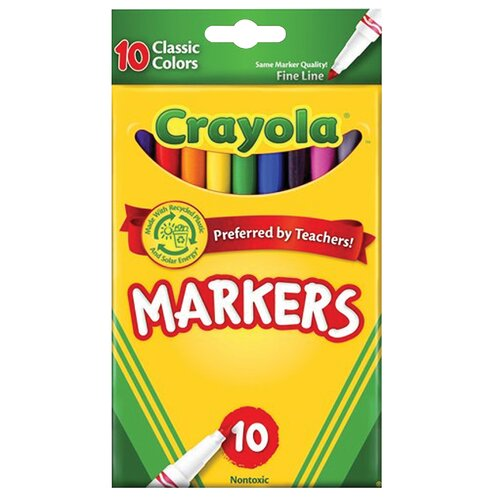 Crayola LLC Fine Line Markers (10 Pack)