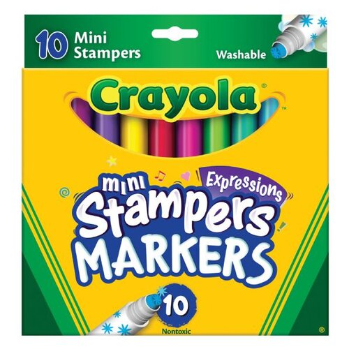 Crayola LLC Mini Stampers Washable Markers (10 Pack)