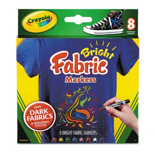 Crayola LLC Fabric Markers (8 Pack)