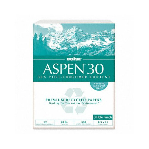 Boise® Aspen 3-Hole 30% Recycled Office Paper (5000/Carton)