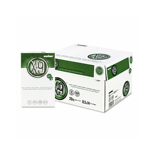 Boise® X-9 Copy Paper, 92 Brightness, 20 lb, 8-1/2 X 14, 5000 Sheets/Carton