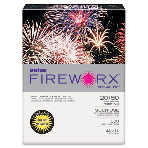 Boise® Fireworx Colored Paper, 20 lb, 8-1/2 X 11, 500 Sheets/Ream