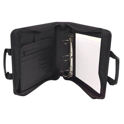 """Bond Street, LTD. Ballistic Business Briefcase with 3"""" Binder Portfolio"""