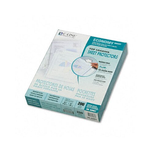C-Line Products, Inc. Reduced Glare Economy Weight Poly Sheet Protector (200/Box)