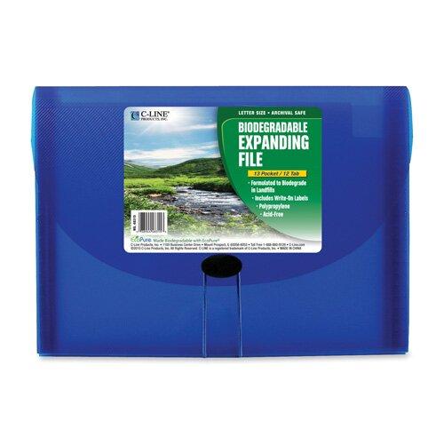 C-Line Products, Inc. 13-Pocket Biodegradable Expanding File, Letter