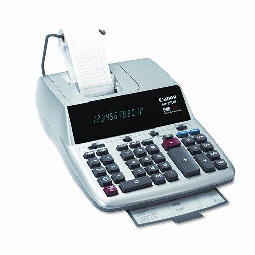 Canon MP25DVS Two-Color Ribbon Printing 12-Digit Calculator, Silver