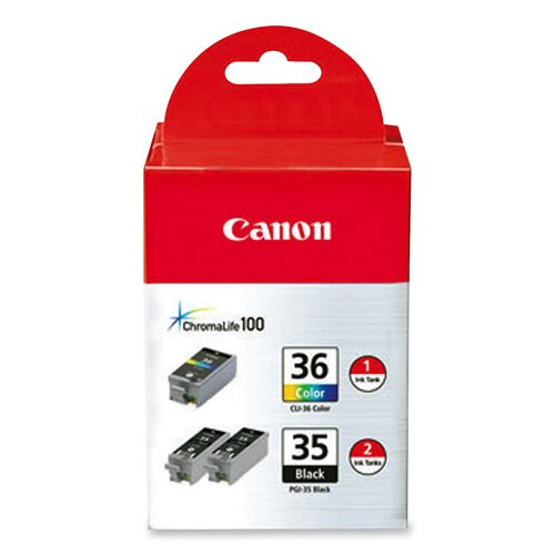 Canon Ink Cartridge, Combo Pack, Black/Tri-Color