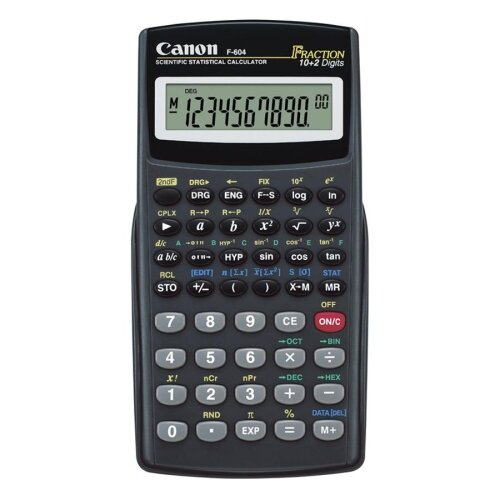 "Canon Scientific/Statistical Calc, 158 Fun, 3""x5-3/5""x2/5"", Black"
