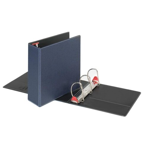 "Cardinal Brands, Inc Locking D-Ring Binder, 4"" Cap, 11""x8-1/2"", Dark Blue"