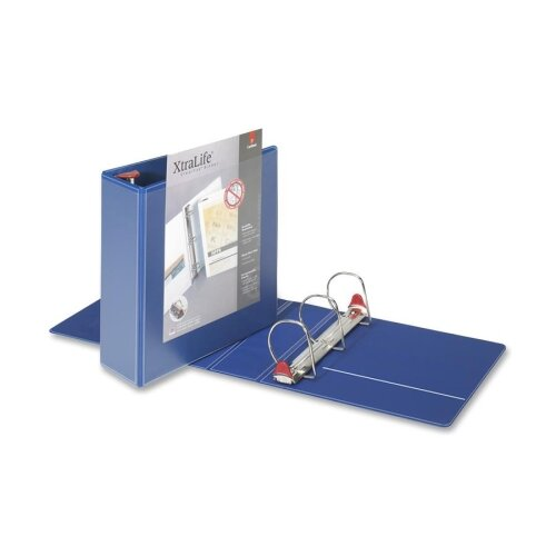 "Cardinal Brands, Inc Clearvue Binder, D-Ring,4"" Capacity, 11""x8-1/2"", Blue"