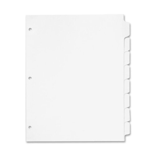 "Cardinal Brands, Inc Erasable Tab Dividers, 8-Tabs, 11""x8-1/2"", 8/Set, White"