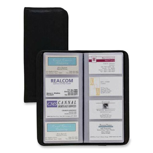 "Cardinal Brands, Inc Busn Card File,Non-Glare, 96-Card Capacity, 4-1/4""x1/2""x10-3/8"", Black"