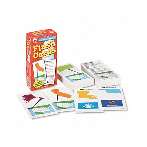 Carson-Dellosa Publishing U.S. States and Capitals Flash Cards, 109/Pack