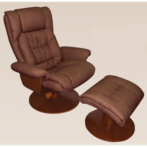 Mac Motion Oslo Vinci  Recliner and Ottoman
