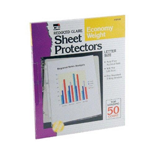 Charles Leonard Co. Top Loading Sheet Protectors Clear